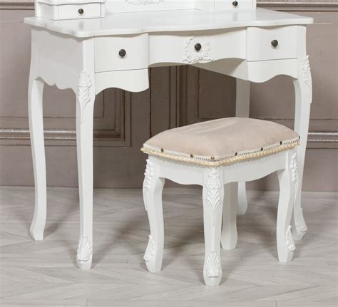 White-Dressing-Table-And-Stool
