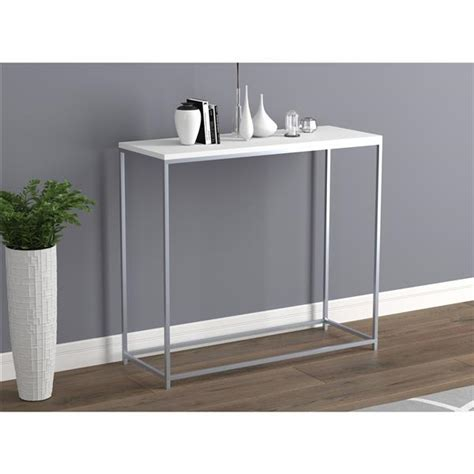 White-Metal-Console-Table