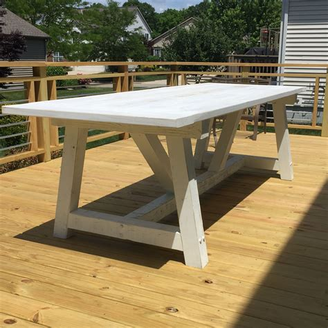 White-Outdoor-Farmhouse-Table