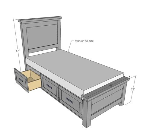 White-Twin-Bed-With-Drawers-Building-Plans