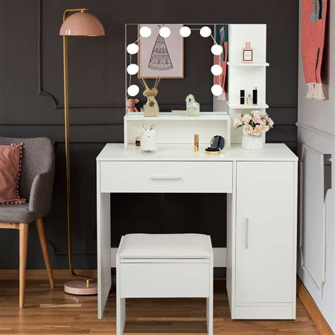 White-Vanity-Desk-With-Drawers