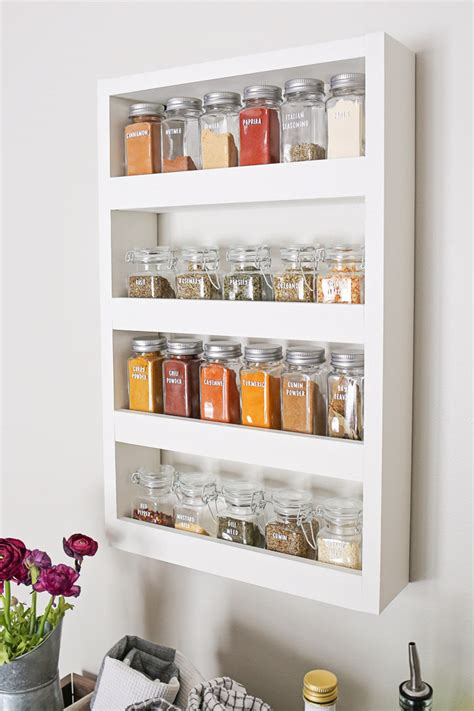 White-Wall-Spice-Rack