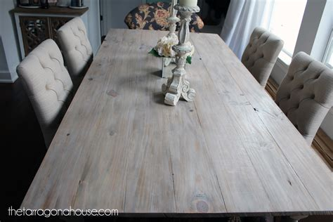 Whitewash Kitchen Table Diy Plans