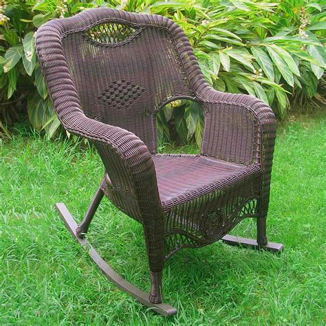 Wicker Rocking Chair For Outdoor