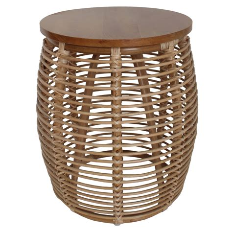 Wicker end tables for living room Image