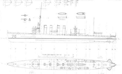 Wickes Class Destroyer Plans