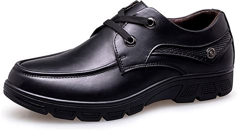 Wide Width Men's Oxford Formal Modern Classic Lace-up Dress Shoes Business Genuine Cow Leather
