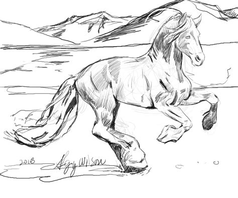 HD wallpapers draft horse coloring page Page 2