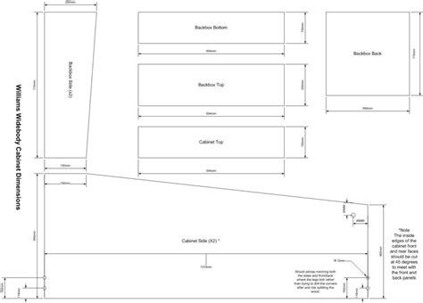 Williams-Standard-Pinball-Cabinet-Plans