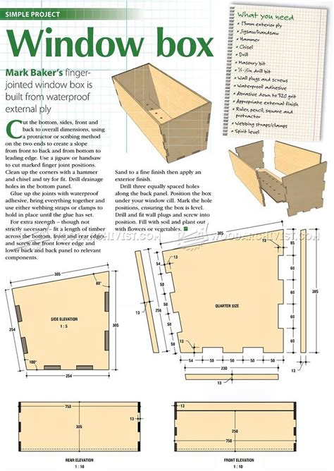 Window Box Woodworking Plans