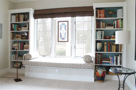 Window Seat In Built In Bookcases