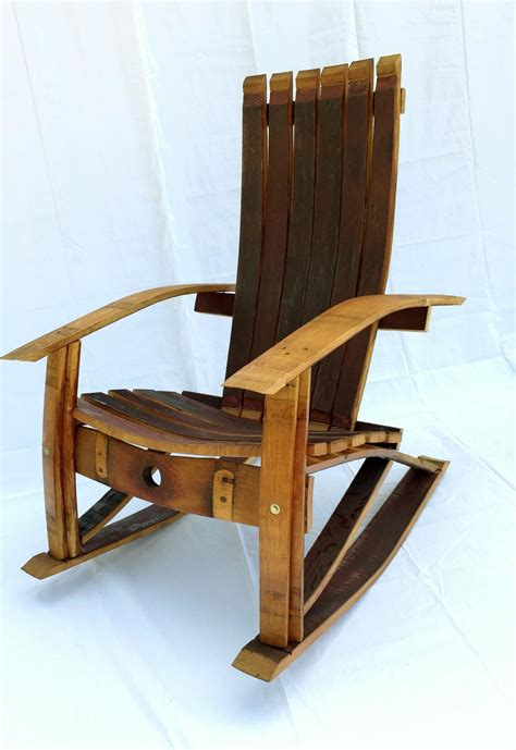 Wine Barrel Adirondack Rocking Chair Plans