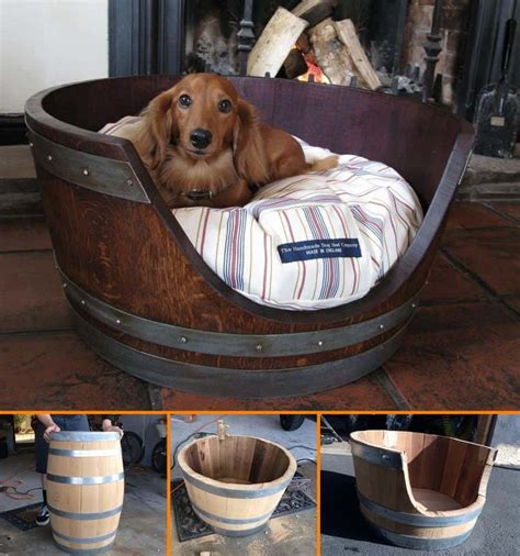 Wine Barrel Dog Bed Diy From Old