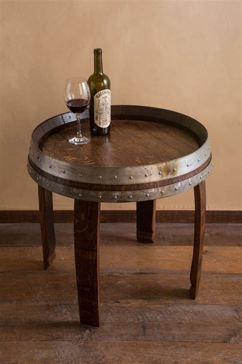 Wine Barrel End Table Images