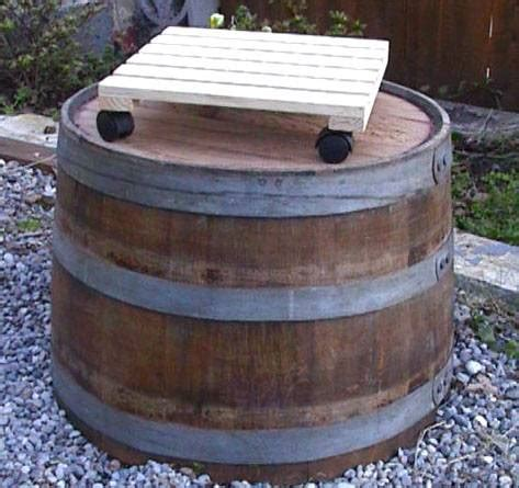 Wine Barrel Plant Dolly
