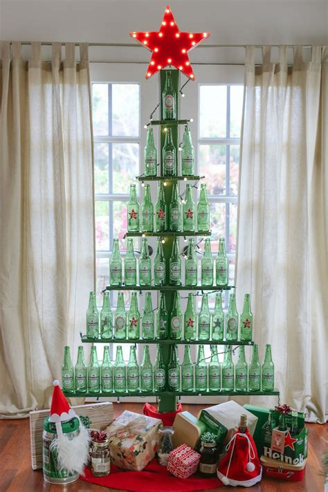 Wine Bottle Christmas Tree Frame Diy Recycle