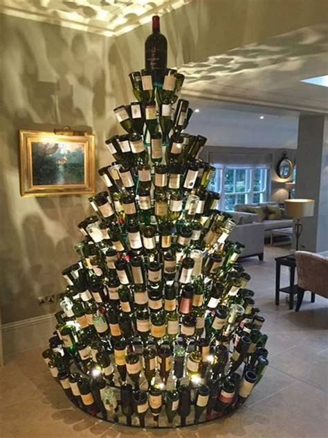 Wine Bottle Christmas Tree Plans
