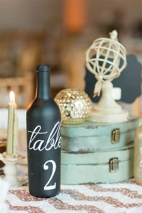 Wine Bottle Table Numbers Diy