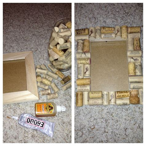 Wine Cork Picture Frame Diy Distressed