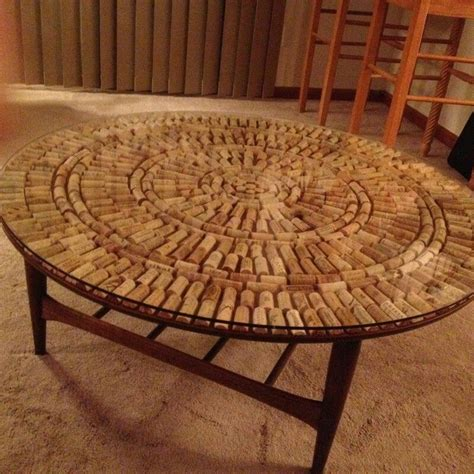 Wine Cork Table Top Coffee Table DIY