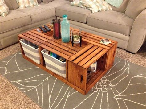 Wine Crate Coffee Table DIY