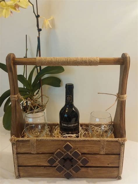 Wine Rack Box Diy Gift