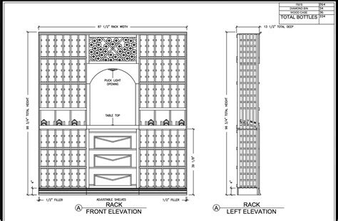 Wine Rack Dimensions Plans For Pizza