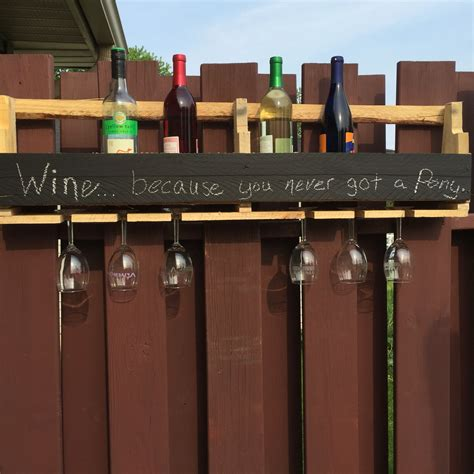 Wine Rack Table Diy Chalk