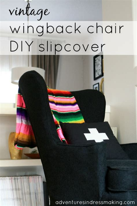 Wingback-Chair-Slipcover-Diy