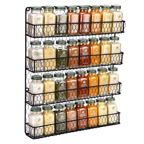 Wire Spice Rack Wall Mounted