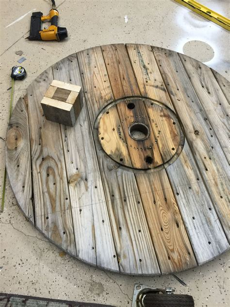 Wire Spool Outside Coffee Table Diy