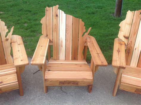 Wisconsin-Shaped-Adirondack-Chairs
