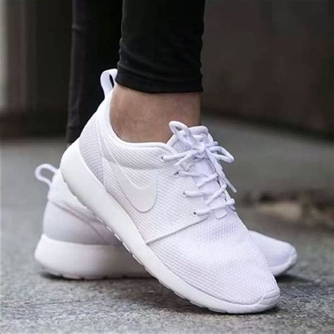 Womans All White Nike Sneakers