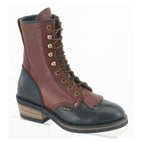Women's 8' Packer Black/Dark Cherry Work Boot