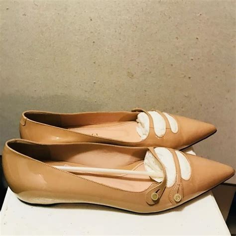 Women's Kamora Nude Patent Leather Flat 40 M