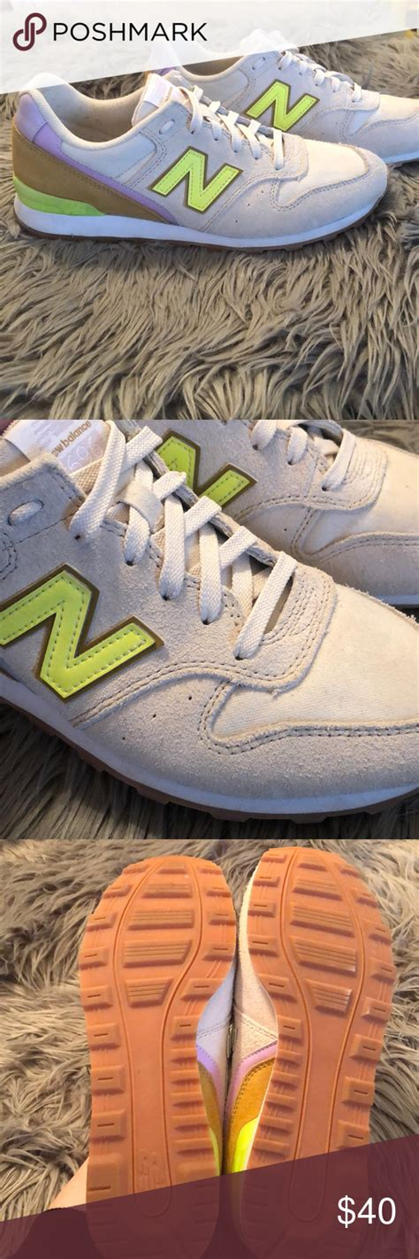 Women's New Balance For J.crew 696 Sneakers Champagne Violet Lime