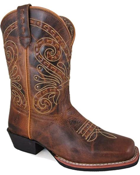 Women's Shelby Stitched 9' Boot Square Toe Brown 10 W