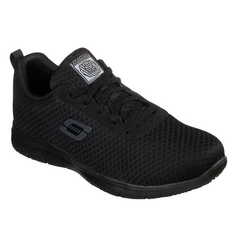 Women's Skechers Work Relaxed Fit Ghenter Slip Resistant Sneaker Black
