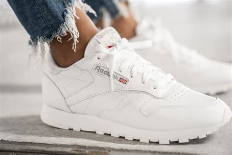 Women's White Reebok Sneakers
