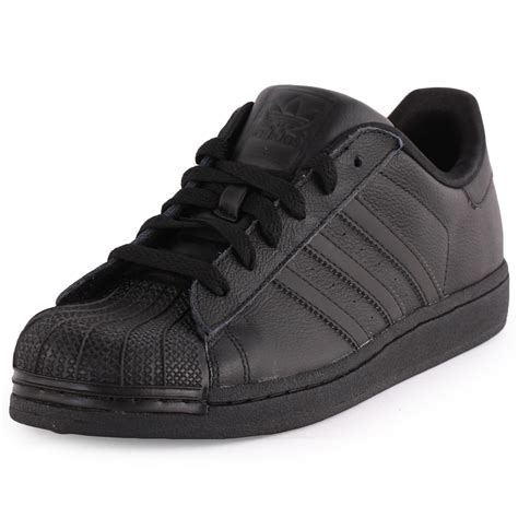 Womens Black Leather Adidas Sneakers