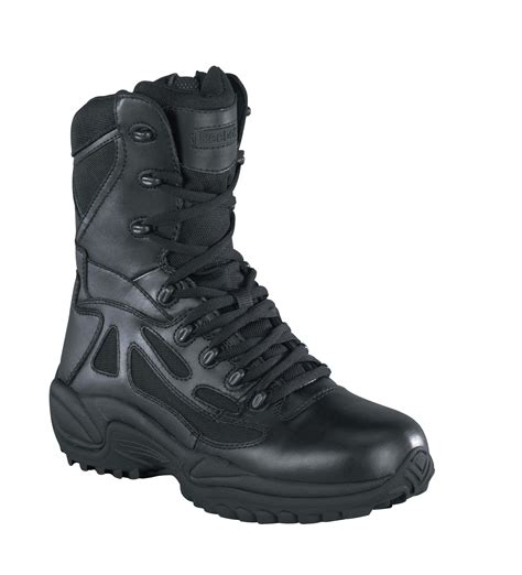 Womens Black Leather Tactical Boots Rapid Response RB Soft Toe