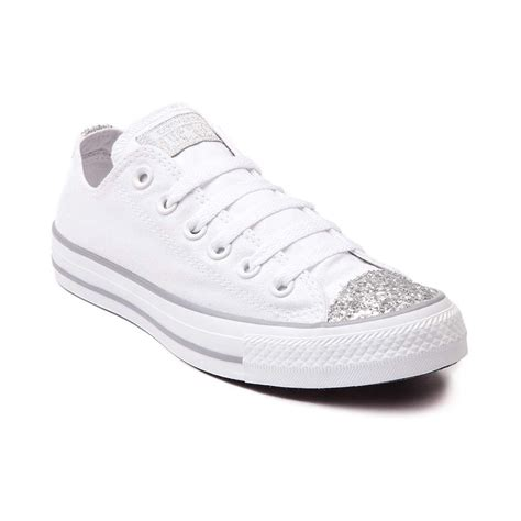 Womens Converse All Star Lo Glitter Toe Sneaker