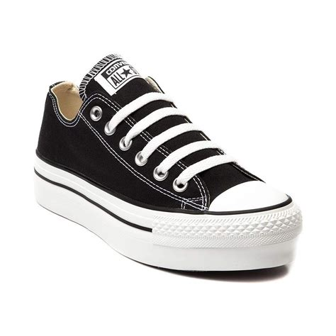 Womens Converse All Star Lo Platform Sneaker Black