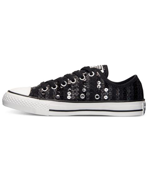 Womens Converse Sequin Ox Sneakers
