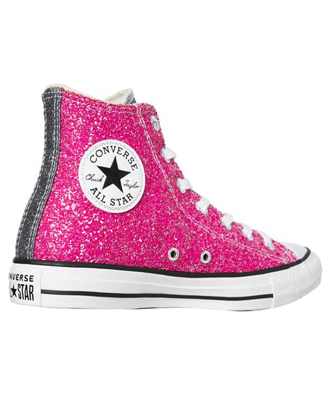 Womens Converse Sneakers Glitter Pink