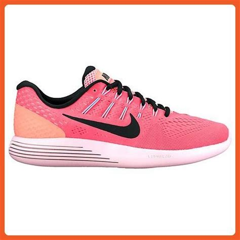 Womens Lunarglide 8 Hot Punch/Black/Lava Glow Running Shoe 9 Women US