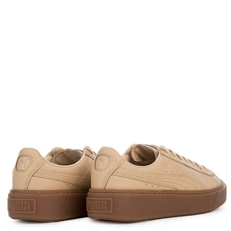 Womens Natural Puma Platform Sneakers