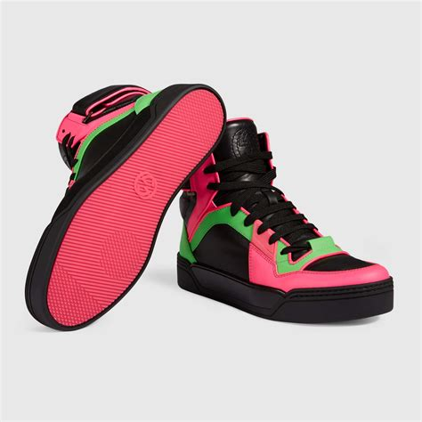 Womens Neon Gucci Sneakers