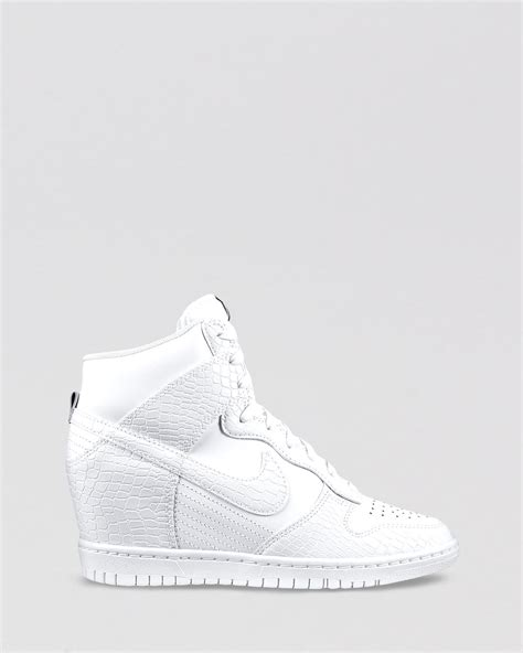 Womens Nike Wedge Sneakers White