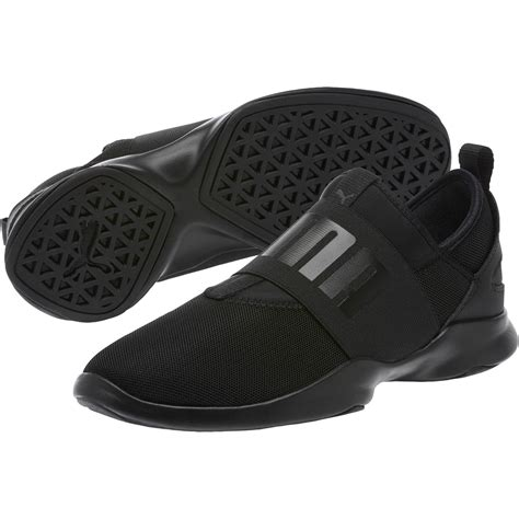 Womens Yellow Puma Slip On Sneakers